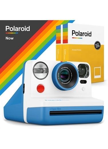 Polaroid Now Mavi Instant Fotoğraf Makinesi ve 16lı Film Hediye Seti Mavi